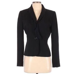 Tahari black ruffle blazer